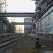 Stock Photo: Railway on ferrous metallurgy factory