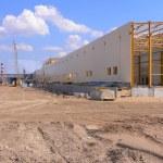 área de construção de fábrica — Foto Stock