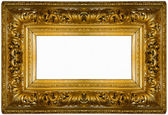 Golden thick frame — Stock Photo