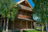 Wooden big house from timbers — Stock Photo