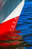Red waterline on a ship — Stock Photo