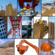 Construction site collage — Stock Photo #1056393