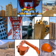 Stock Photo: Construction site collage