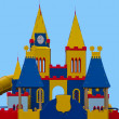 Children`s fortress from color panels - Stock Photo