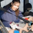 Stock Photo: Mother and child in car