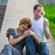 Teens first date — Stock Photo