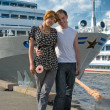 Teenagers near the cruise lainers — Stock Photo #1127999