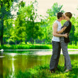 He is kissing her passionately - Stock Photo