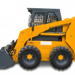 Stock Photo: Orange mini wheel excavator