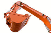 Orange clear excavator bucket beam — Stock Photo
