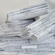 Pile of project drawings — Stock Photo