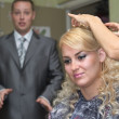 Stock Photo: Bride preparation