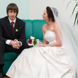 Loving wedding couple — Stock Photo #1243739
