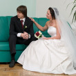 Newlywed young couple — Stock Photo