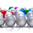 Four Christmas balls - Stock Photo
