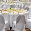 Wedding white reception place is ready — ストック写真