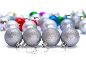 τέσσερις μπάλες χριστούγεννα — Φωτογραφία Αρχείου