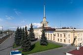Russia city: railway station — Stock Photo