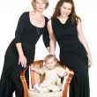 Mature grandmother, young mother, baby — Stock Photo #2258961