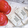 Stock Photo: Construction and office objects