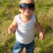 Little child in sunglasses — 图库照片