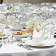 Formal dinner service as at a wedding - Stock Photo