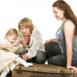 Mature grandmother, young mother, child — Stock Photo