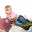 Little baby is playing — Stock Photo