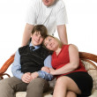 Portrait of happy family persons - Stock Photo