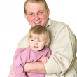 Father holding his little son — Stock Photo #2431758