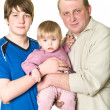 Portrait of father with two children — Stock Photo #2431776