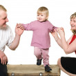 Picture of happy young family — Stock Photo #2431814