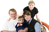 Happy young parents and children — Foto de Stock