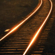 Stock Photo: Rails coiling zigzag
