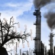 The industry - ecological disaster — Stock Photo