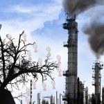 przemysł - katastrofa ekologiczna — Zdjęcie stockowe