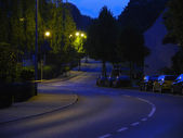 Nacht straße — Stockfoto