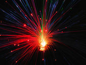 Fiber optic light — Stockfoto