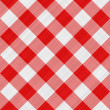 Red table cloth - Stock Photo