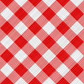 Red table cloth — Stock Photo