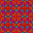 Red squares pattern — Stock Photo