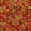 Warm batik rags pattern — Stock Photo