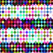 Harlequin checkered pattern — Stock Photo