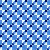 Blue art deco pattern — Stock Photo