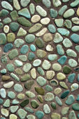 Colored pebbles path — Stock Photo