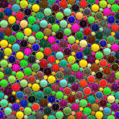 Bright glossy 3d dots — Stock Photo