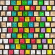 Colorful cobble stone pattern — Stock Photo