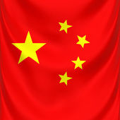 Chinese national flag — Stock Photo