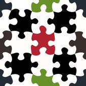 Contrasty jigsaw pieces pattern — Stock Photo