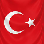 Turkish national flag — Stock Photo